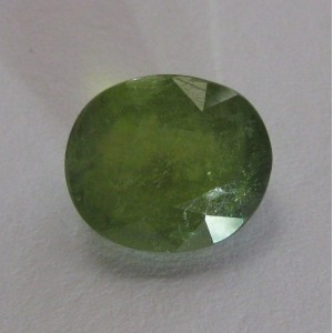 Yellowish Green Sapphire Oval 4.08cts