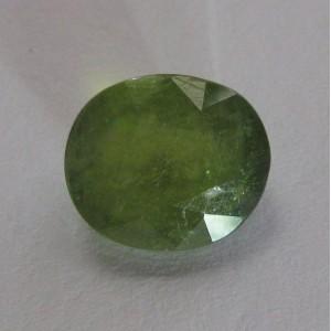 Yellowish Green Sapphire Oval 4.08cts