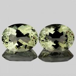 Oval Cut Green Amethyst Brazil 13.13 carat