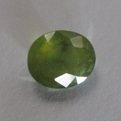 Green Safir Oval 4.19 carat