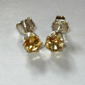 Anting Citrine Silver 925 exclusive dan elegan
