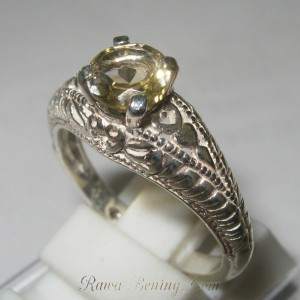 Citrine Silver 925 Ring Size 8US