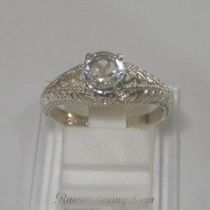 Cincin Silver White Topaz Ring 7US