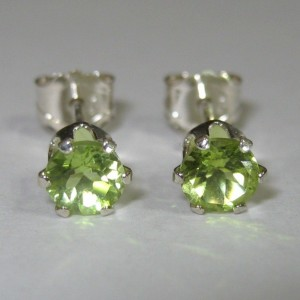 Anting Peridot 4mm Silver 925