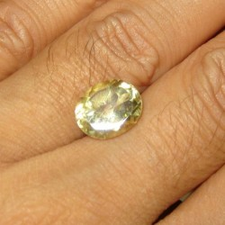Yellowish Green Citrine 4.06 carat