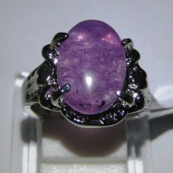 Cincin Gold Plated Amethyst Ring 17mm