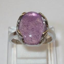 Cincin Kelopak Batu Kecubung 18mm