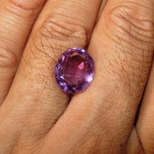 Batu Kecubung Ungu Oval 5.45 carat untuk cincin permata