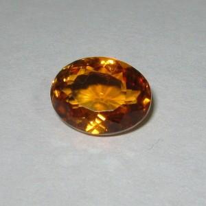 Top Fire Citrine Oval 4.66 carat Luster Tajam dan Kuat!