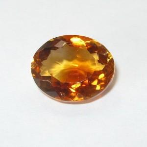 Natural Citrine 3.52 carat batu permata indah