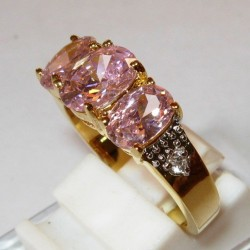 Cincin Pink Sapphire CZ Ring 7US